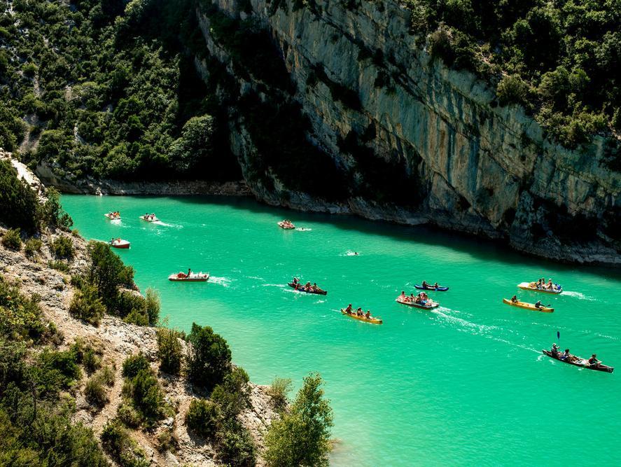 Canoe dans les Gorges du verdon - Les Oliviers du Verdon
